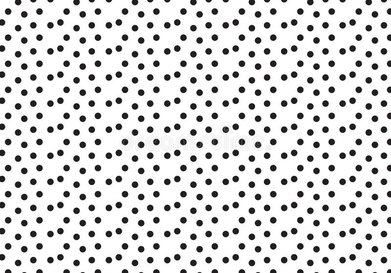 Black polka dots pattern background. Black polka dots pattern on white background royalty free illustration