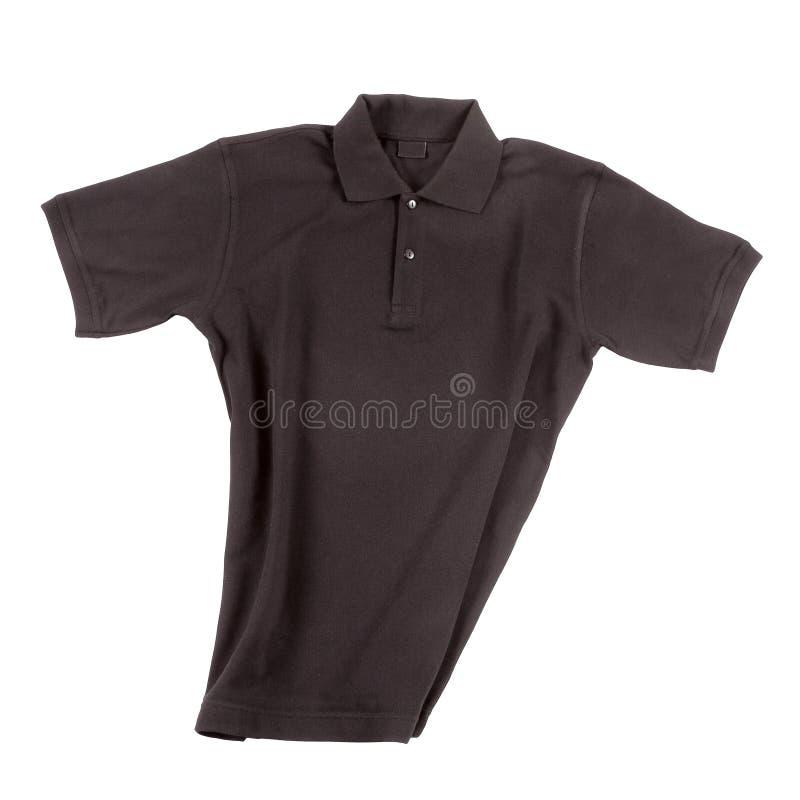 Black polo shirt. Short sleeve, isolated on white stock photo