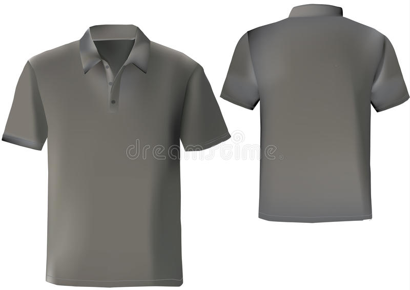 Black polo shirt design template royalty free illustration