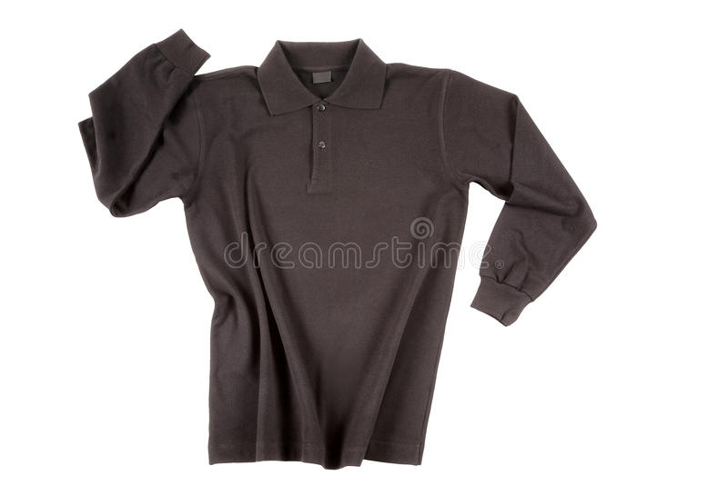 Download Black Polo Shirt Long Sleeve Stock Photo - Image of isolated, shirt: 18151460