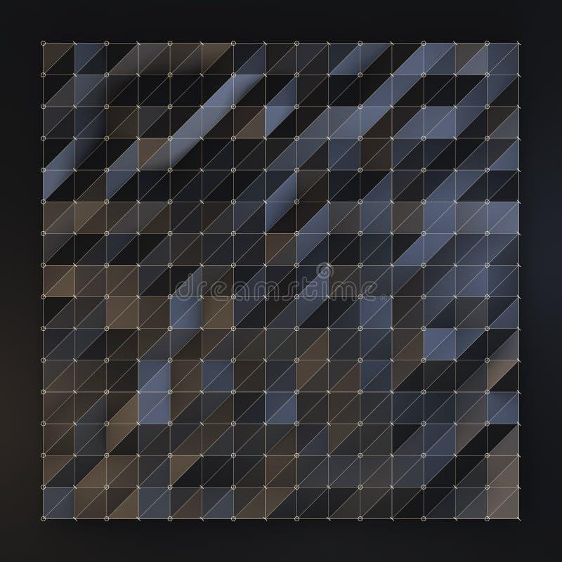Black polygon background stock illustration
