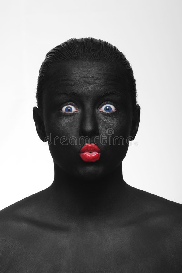 Black Portrait Stock Photo