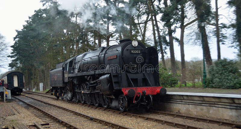 92203 Black Prince at Holt station on the North Norfolk Railway stock image