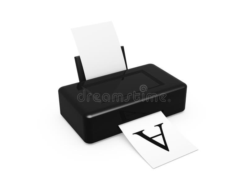 Download Black printer stock image. Image of media, business, modern - 22462299