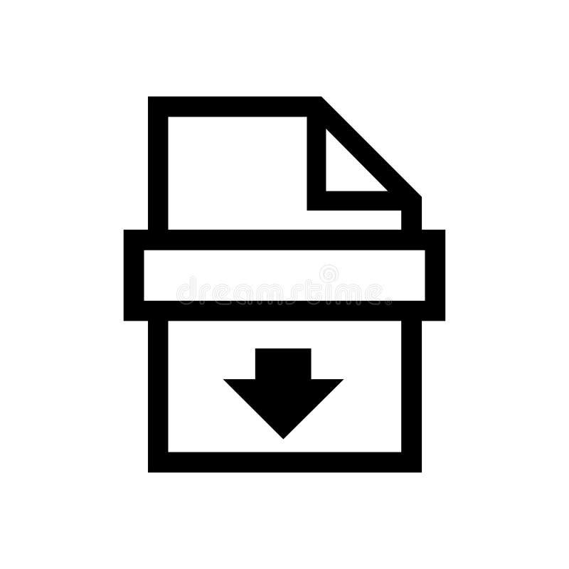 Black Printer symbol for banner, general design print and websites. Illustration vector royalty free illustration