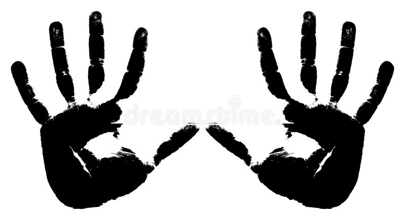 Download Black prints of two hands stock vector. Illustration of hand - 15505634