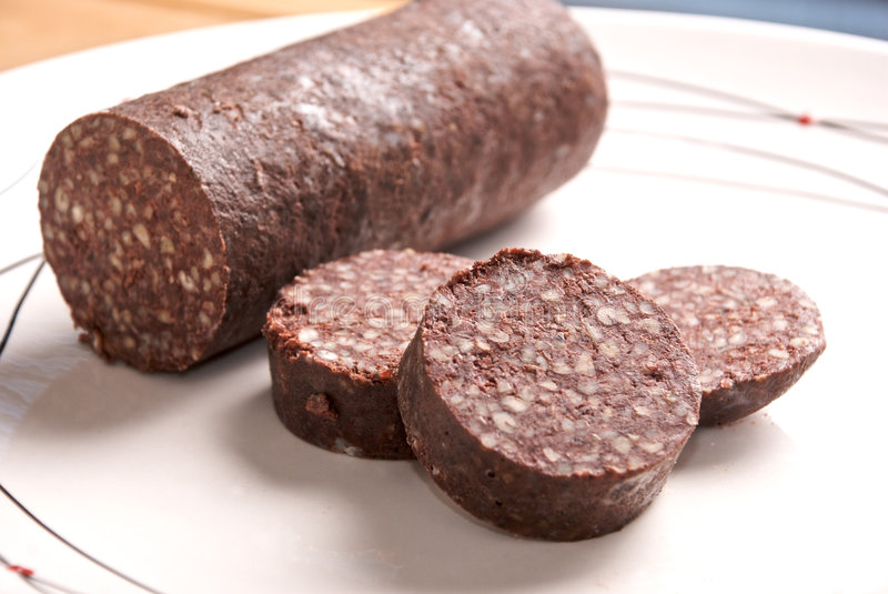 Black Pudding royalty free stock photos