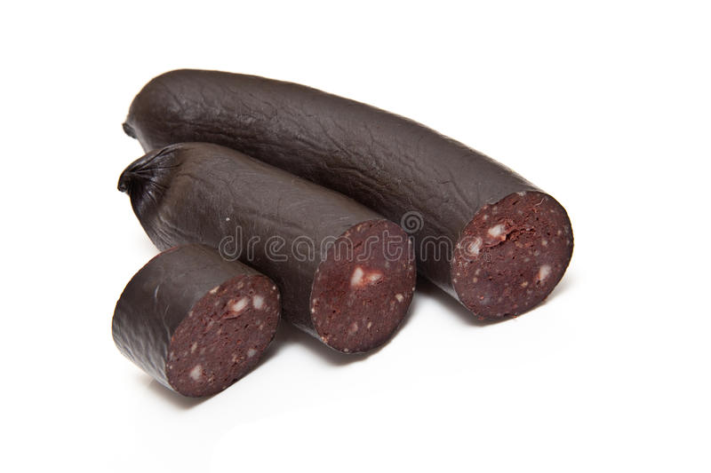 Black Pudding Blood Sausage stock images