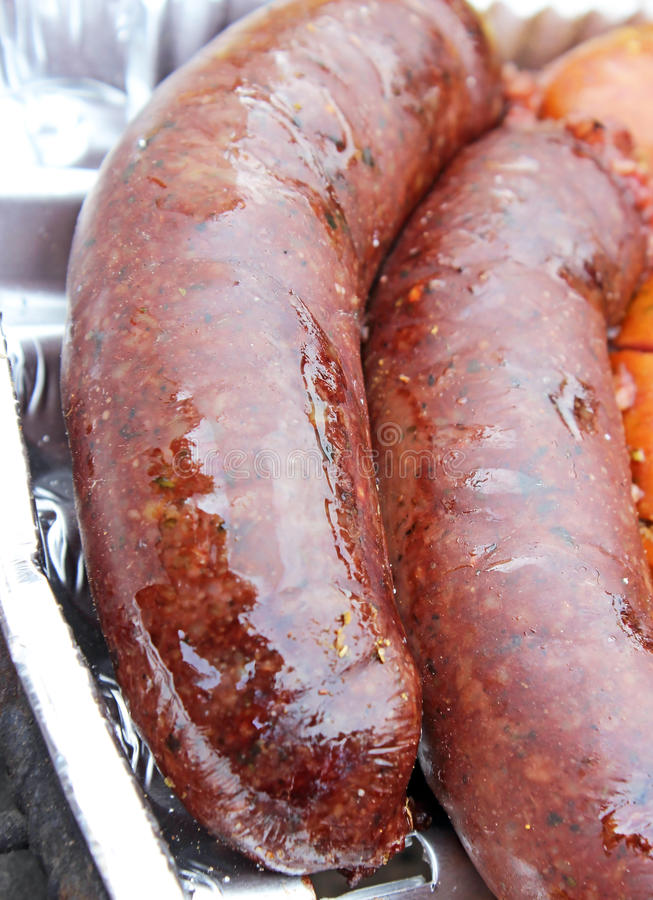 Download Black pudding on the grill stock image. Image of cuisine - 31085407