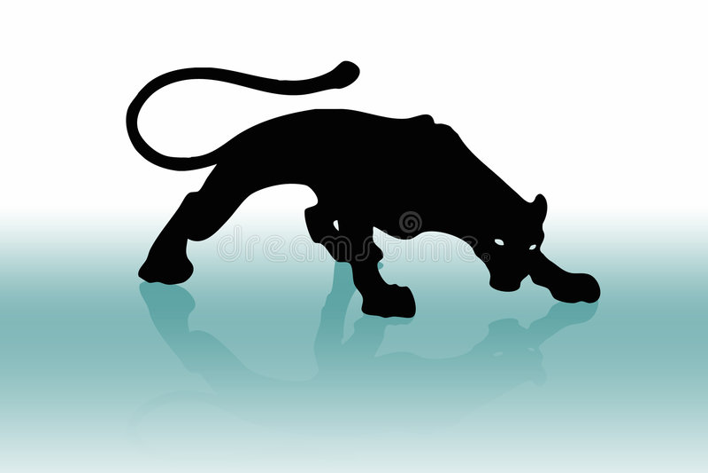 Black puma 2. Black puma or phanter (wallpaper, background, flayer, logo vector illustration