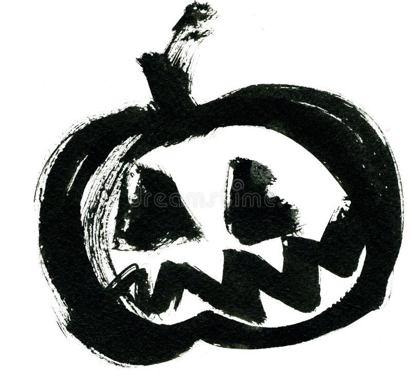 Black pumpkin vector illustration