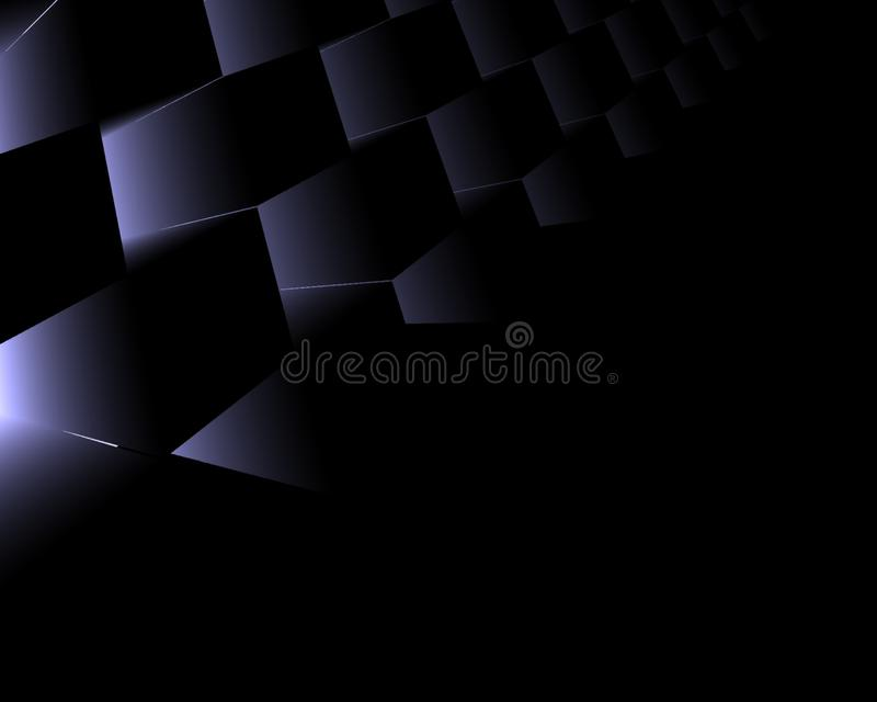 Black and purple abstract background for desktop wallpaper or website design, template with copy space for text.- Illustration.  stock illustration