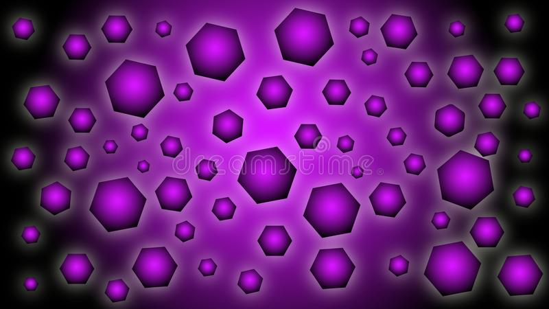 Black and purple background with geometric shapes stock illustration