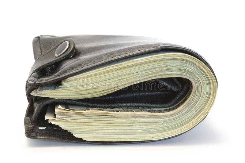 Download Black purse stock photo. Image of hundred, isolated, banking - 13871766