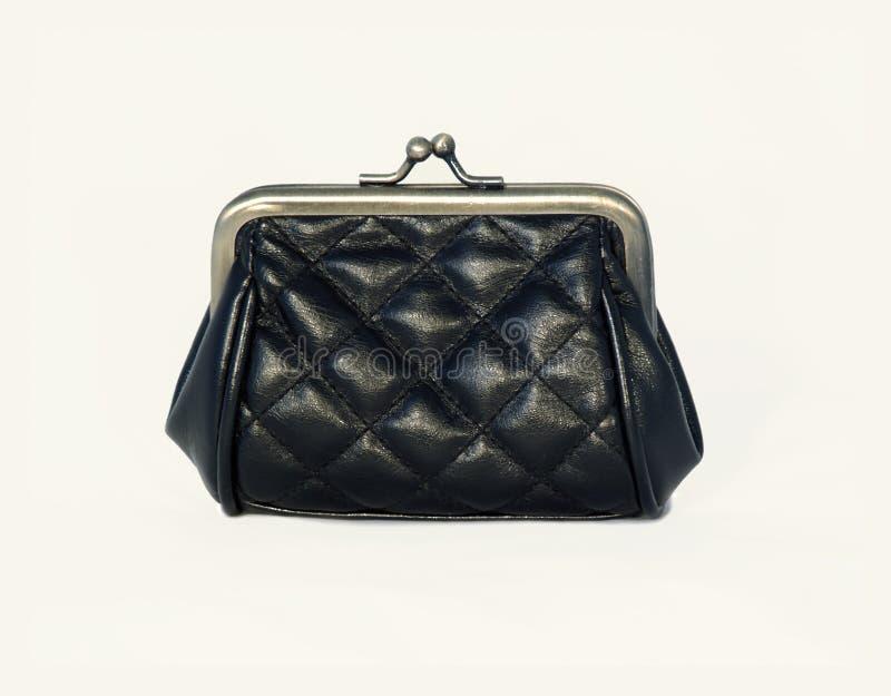 Black purse stock photo