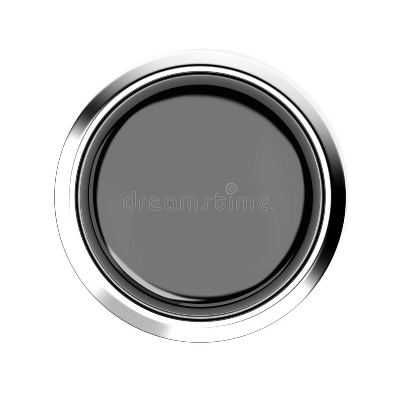 Free Black Push Button. Alarm Sign, Top View. 3d Rendering Illustration Isolated Stock Photo - 154944570