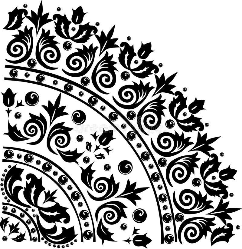 Black quadrant ornament royalty free illustration