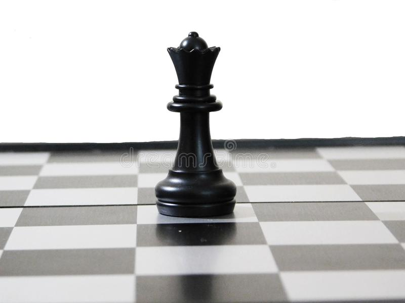 Black queen of chess royalty free stock images