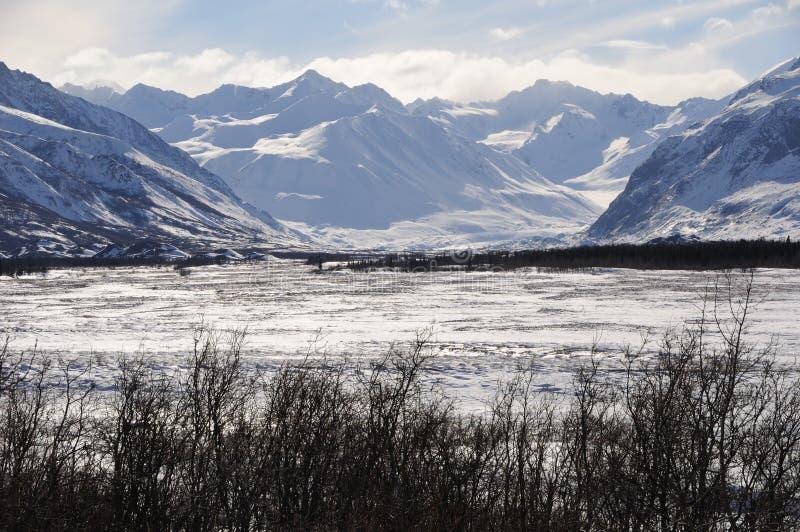 Black Rapids Glacier in the Alaska Range royalty free stock images