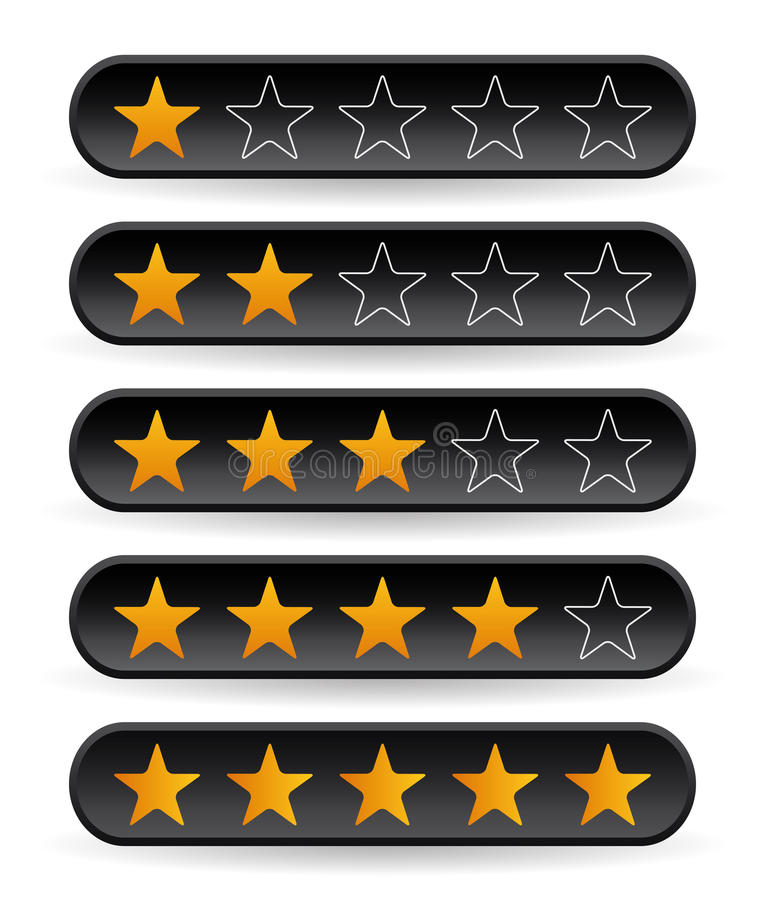 Download Black rating stars stock vector. Illustration of icon - 22220113