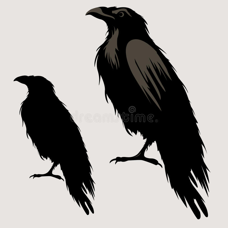 Black Raven Silhouette Stock Illustrations 2 727 Black Raven Silhouette Stock Illustrations Vectors Clipart Dreamstime Raven silhouette design womens t shirt rock goth heavy metal crow myth norse. black raven silhouette stock
