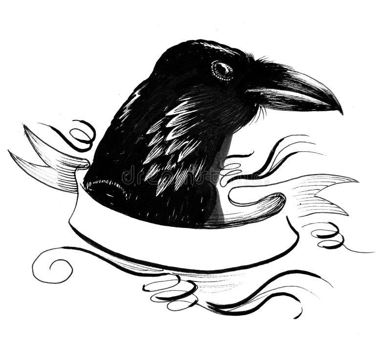 Black raven and vanner stock illustration