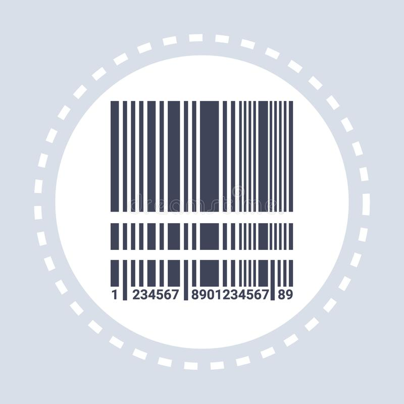 Black realistic barcode icon shopping concept flat stock illustration