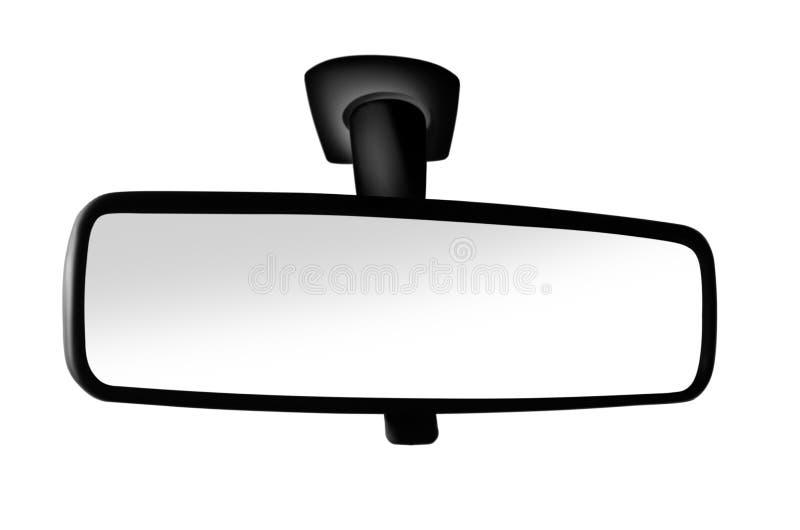 Black rear view mirror on background. Black rear view mirror on white background royalty free stock image