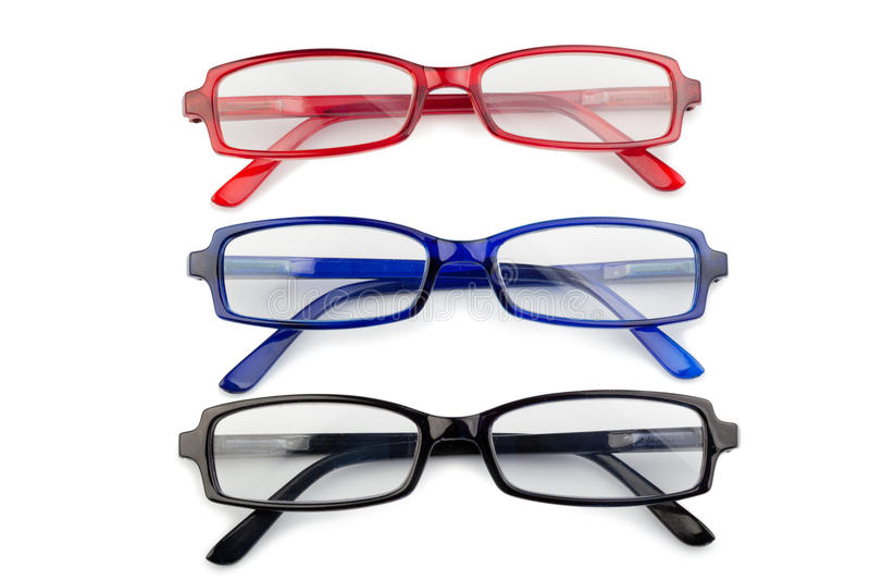 Black Red And Blue Glasses Stock Images