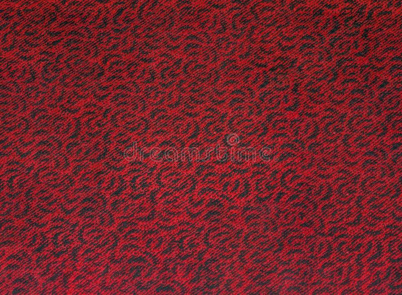 Black Red Carpet Floor Pattern Texture Swirl Stock Image Image of