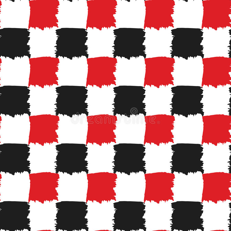 black and red check seamless pattern stock vector