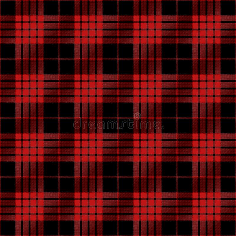 Black And Red Tartan Plaid Traditional Scottish Textile Pattern royalty free stock images