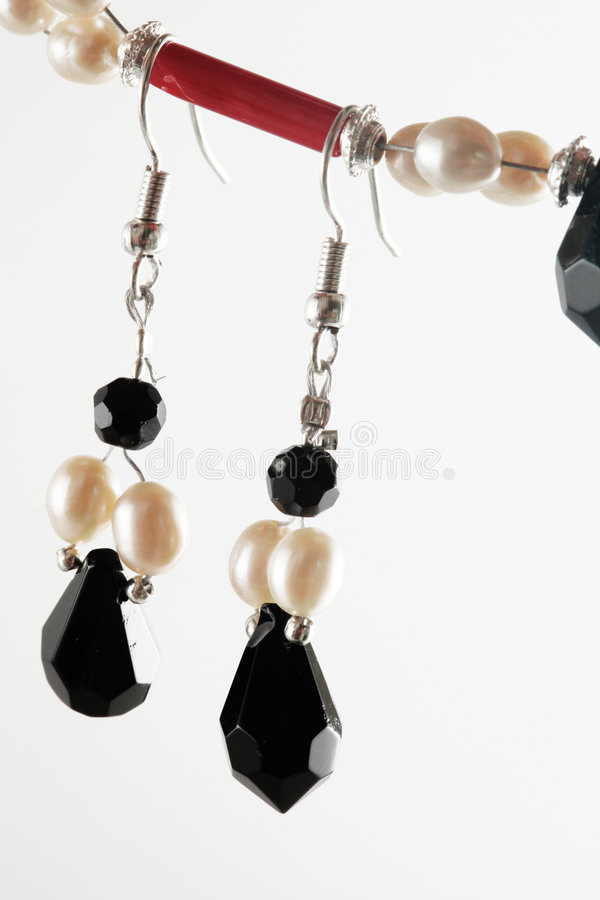 Download Black and red earrings stock image. Image of gold, celebration - 9329259