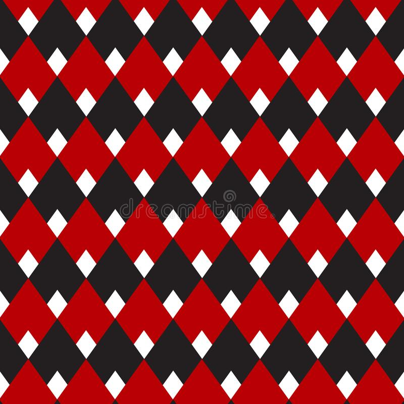 Black and red gingham, diamond seamless pattern, vintage pattern for background, fabric, wallpaper, textile printing. Black and red gingham, diamond seamless royalty free illustration