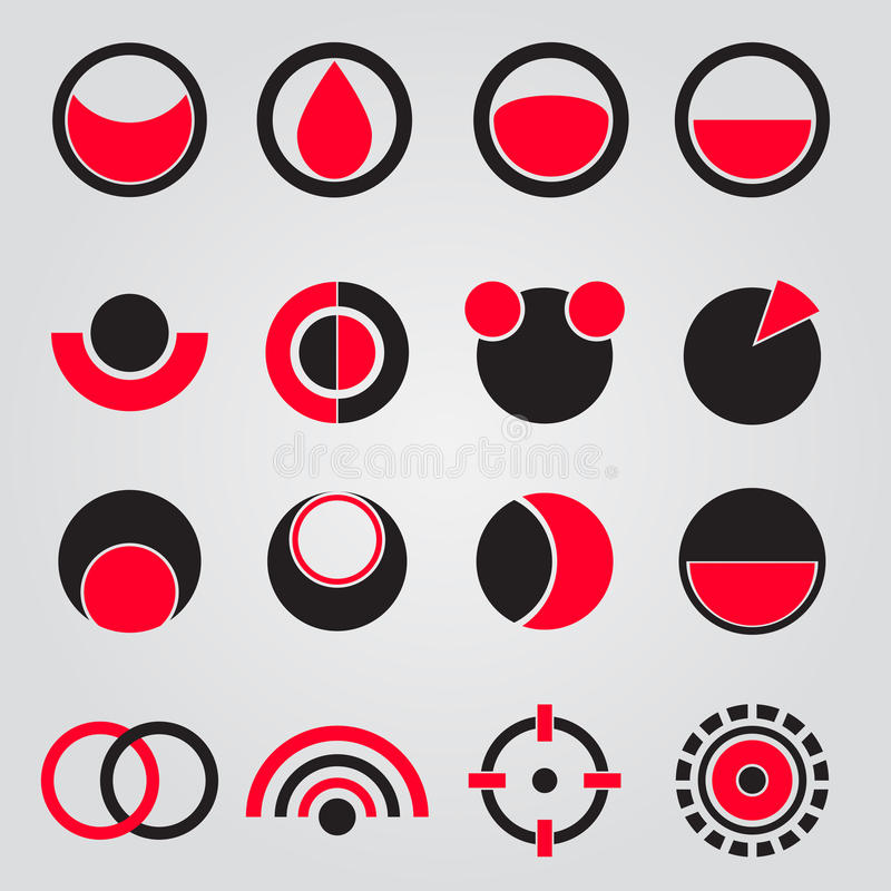 Black & Red. Icon is abstract for decoration artwork - vector royalty free illustration