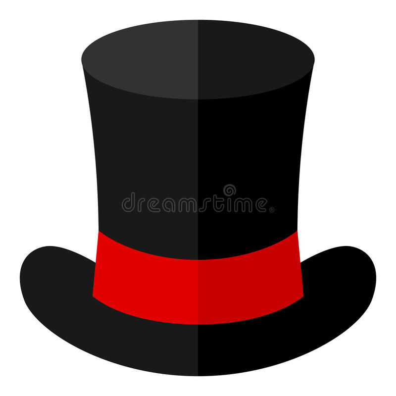 black magic hat flat icon isolated on white stock vector rh dreamstime com