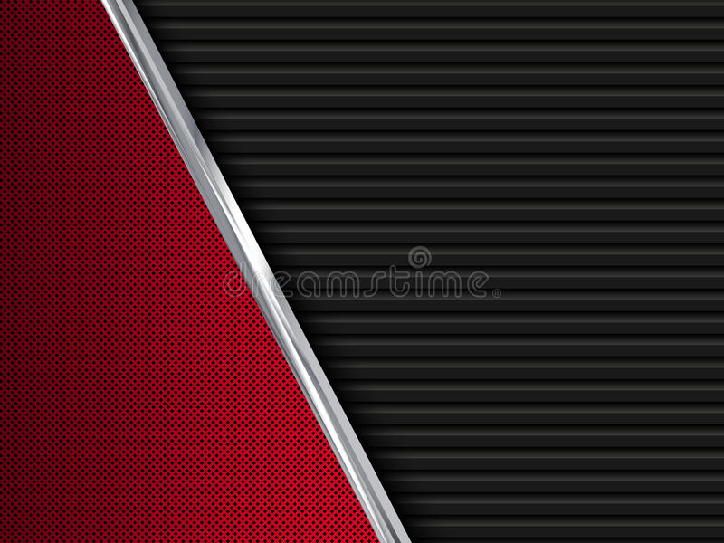 Black and red metal backgrounds. Abstract illustration royalty free illustration