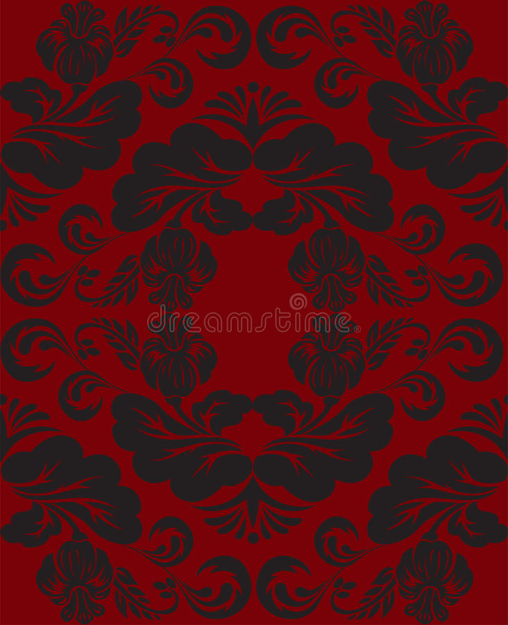 Download Black and red ornament stock vector. Image of baroque - 24213767
