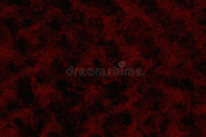 Black and red rose textured plush fabric background royalty free stock images