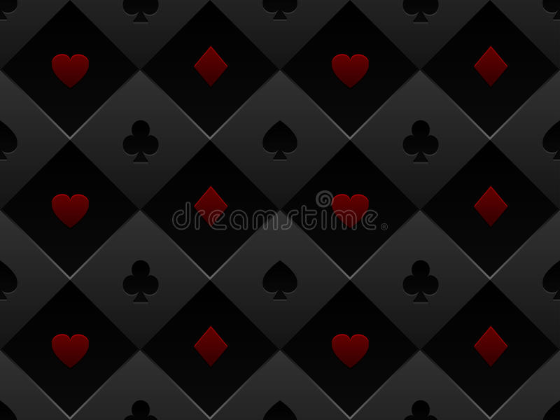Download Black And Red Seamless Pattern Fabric Poker Table Stock Vector    Image: 83505086