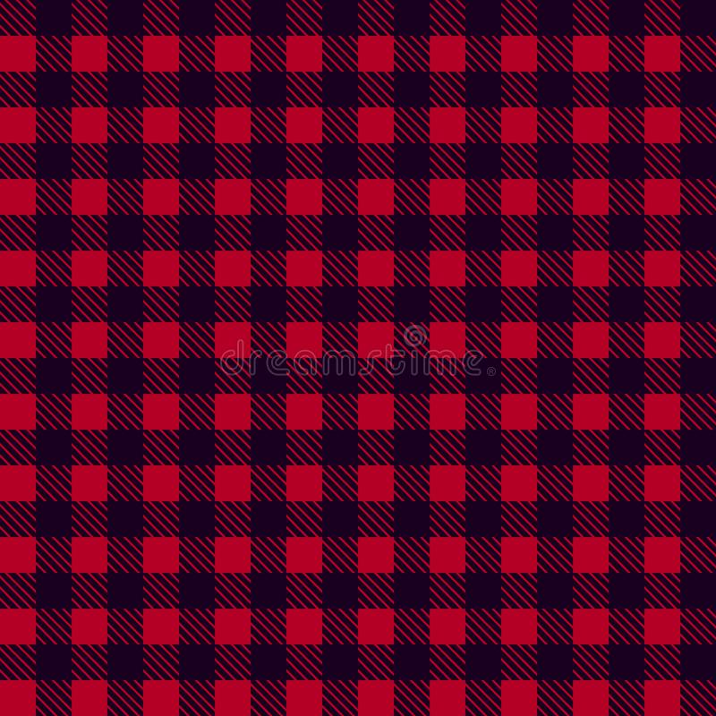 Black Red seamless tablecloth Vector. Seamless traditional tablecloth pattern Vector. Pastel red color square pattern Vector. Geom.  stock illustration