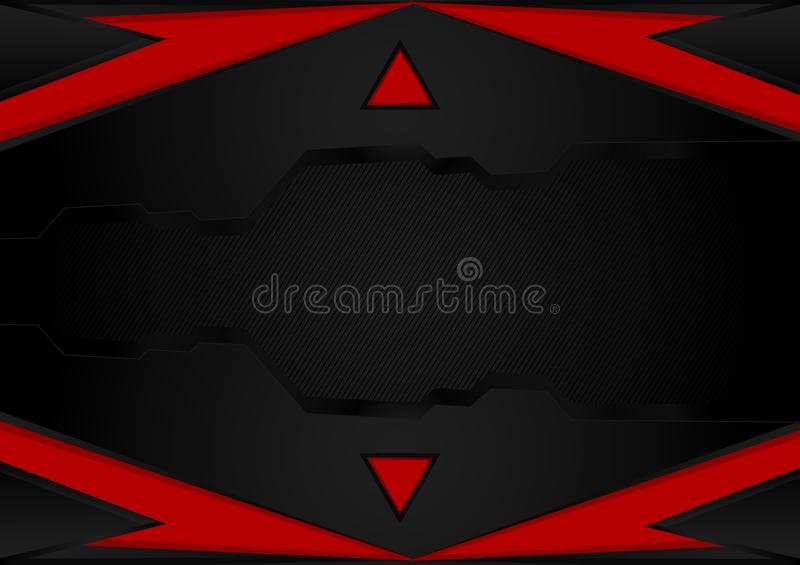 Black and red stripes.abstract vector background with copy space for business and technology, vector illustration.  stock illustration
