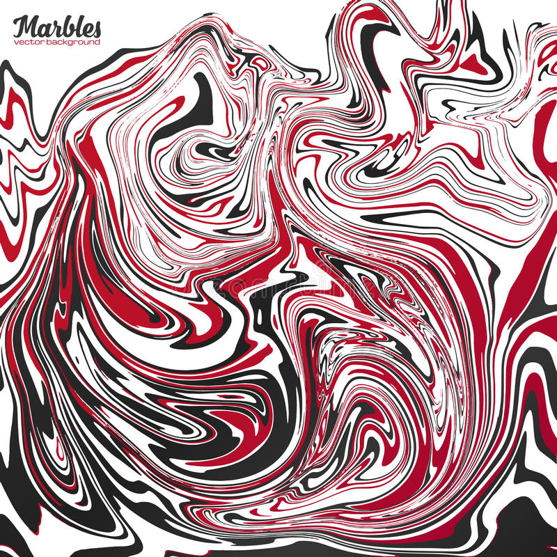 Black, red and white marble abstract vector background vector illustration