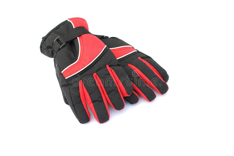 Download Black And Red Winter Gloves Stock Photo - Image: 21168616