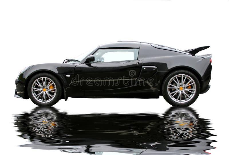 Download Black reflecting sportcar stock image. Image of engineering - 4138361