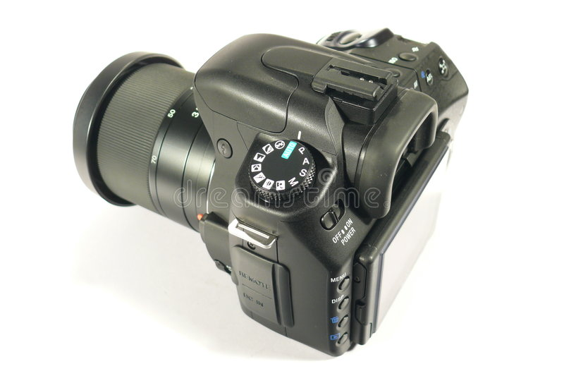 Black Reflex Digital Camera Stock Images