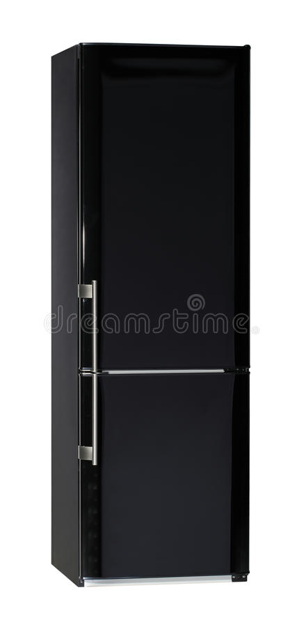 Black refrigerator royalty free stock images