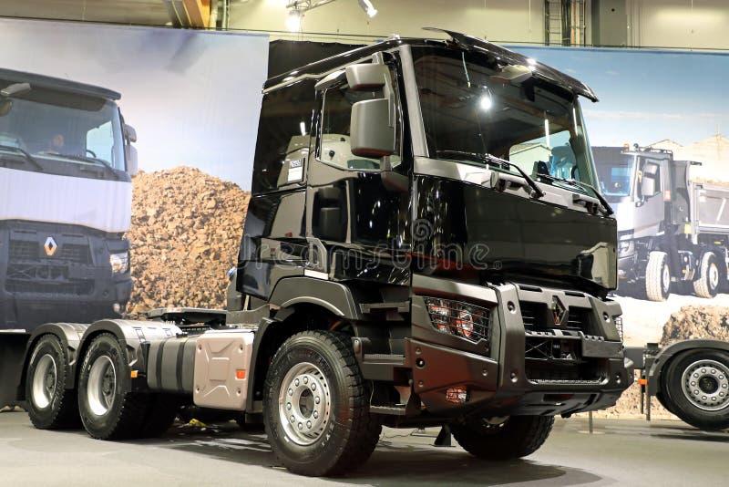 Black Renault Trucks C for Construction stock photo