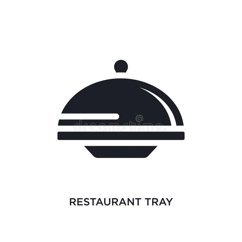 black restaurant tray isolated vector icon. simple element illustration from hotel and restaurant concept vector icons. restaurant stock illustration
