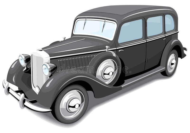 Download Black retro car stock vector. Illustration of antique - 22474449